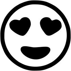 Large Heart Eyes Emoji Stamp