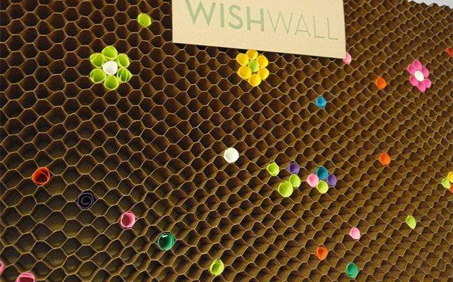 Muro de los deseos , se lo peude usar al principio o aal final, para  recibir sugerencias ... o para escribir notas
