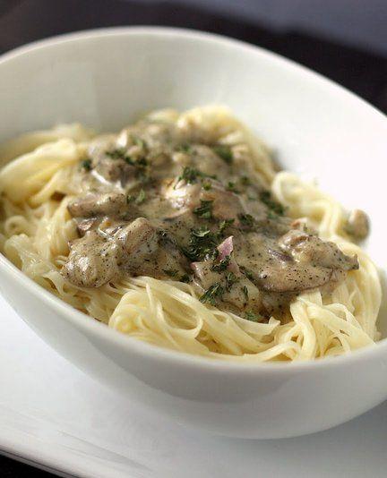 Recipe for Pasta with Creamy Mushroom Sauce