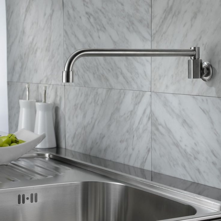 Wall Mounted Kitchen Sink Taps 25 best kitchen taps images on pinterest sink mixer taps faucet 304 stainless steel wall mounted pot filler cold only kitchen faucet workwithnaturefo