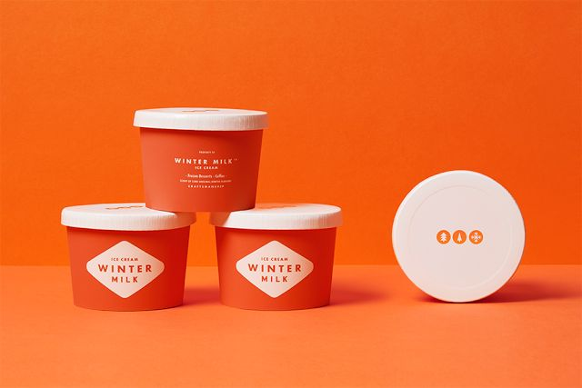 Good design makes me happy: Winter Milk Brand Identity & Packaging