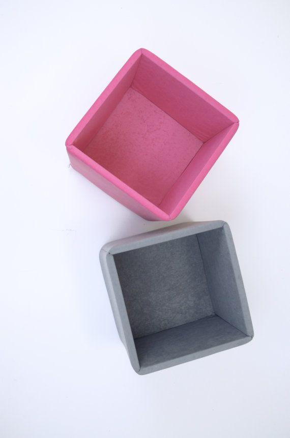 Pink & Gray kids toy storage boxes baskets bins by maneleDeco