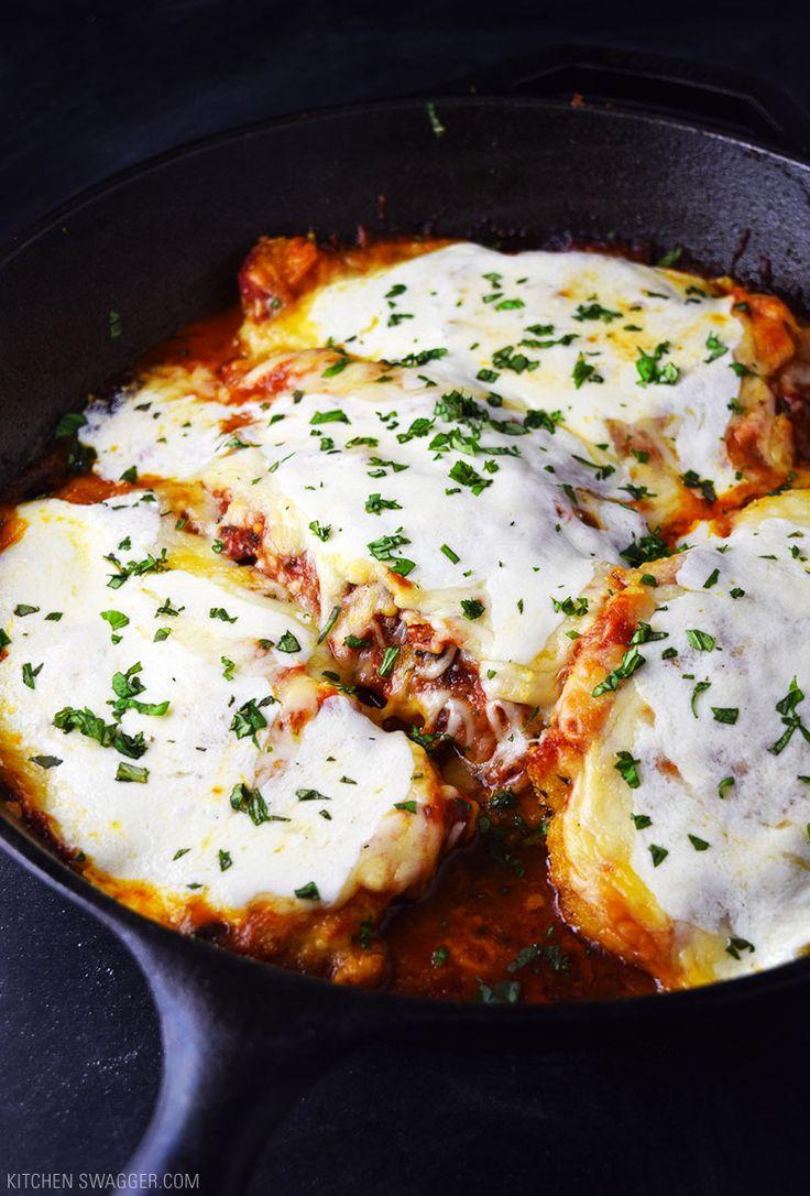 One-Skillet Chicken Parmesan Recipe