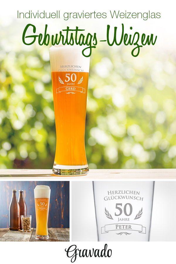 Weizenbierglas Zum 50 Geburtstag Geburtstag Geschenke