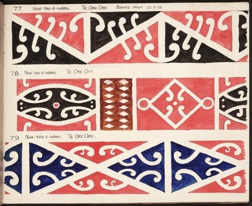 Maori koru designs