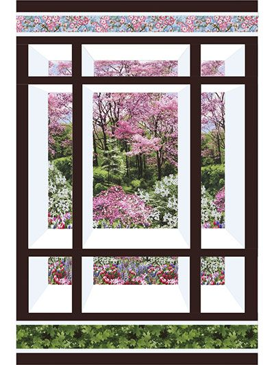 "Create a window into another world. This beautiful pattern will give you a glimpse into a world only an imagination away each and every time you look at it. The pattern can be used for a small or large wall hanging, or even as a lap quilt. Finished sizes: Small wall hanging: 30"" x 45"" Large wall hanging: 39"" x 50"""