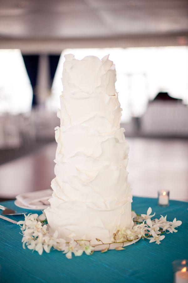 LOVE this cake ~ by  http://www.karenthecakelady.com via SMP's Little Black Book Blog ~ http://StyleMePretty.com/2012/04/17/modern-pier-wisconsin-wedding-from-m-three-studio/ Photography by mthreestudio.com