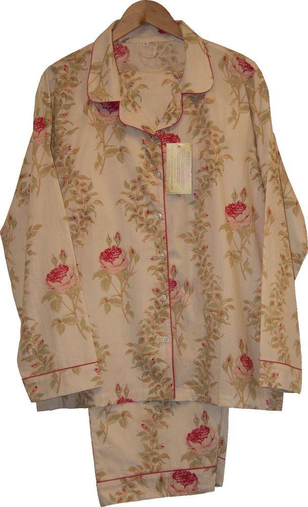 Rosalie Cream: 100% Cotton Women's Pajamas