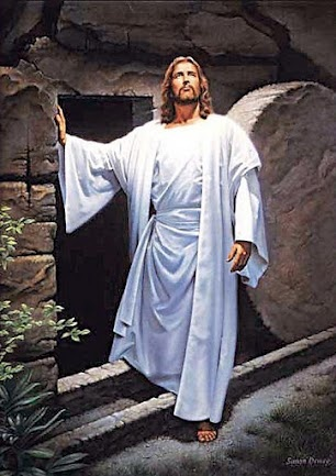 Jesus rising from the dead.