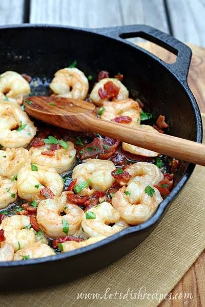 Bacon and Shrimp Scampi with Pasta   Let's Dish Recipes