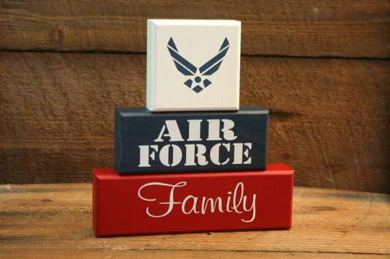 AIR FORCE Family Military Blocks by KRCustomWoodcrafts on Etsy