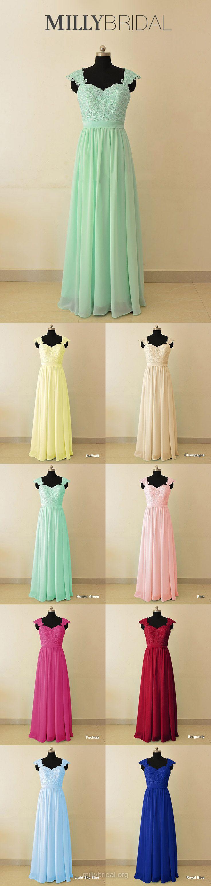 Sage Bridesmaid Dresses Long, Sweetheart Bridesmaid Dress Chiffon, Lace Wedding Party Dresses Modest