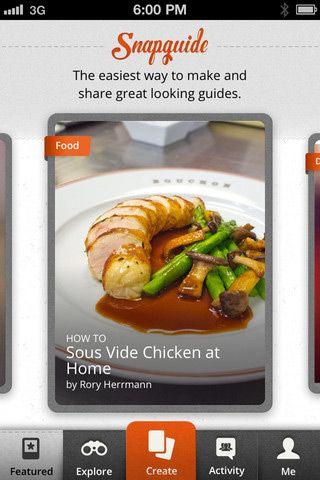 Snapguide-mobile-app-designs: Interface Web, Entr Recipes, Free App, Vacuo, Snapguid Recipes, Design Mobiles, App Snapguid, Chicken Ideas, Snapguid Mobiles App Design
