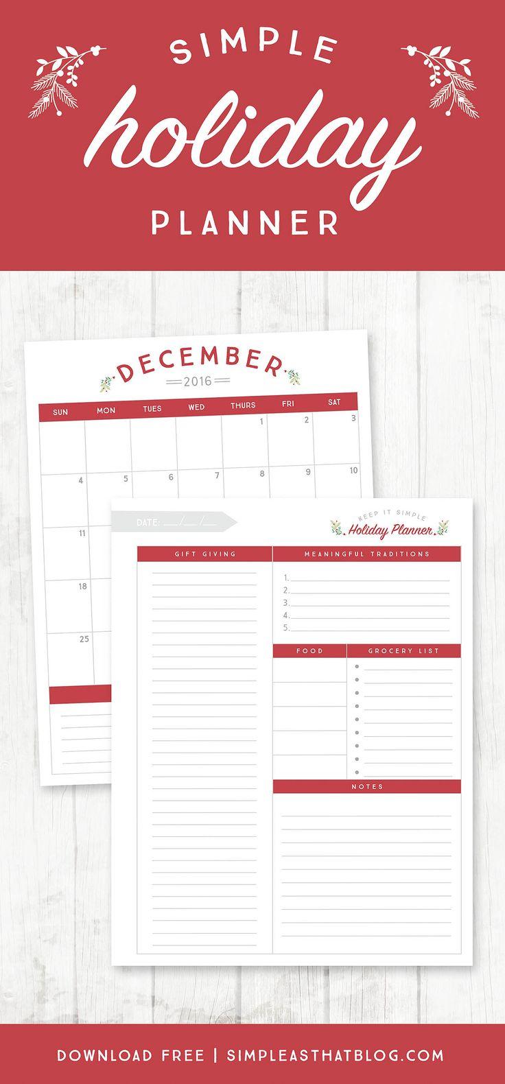 Pianificare in anticipo per le vacanze è il mio segreto per un più calmo dicembre.  Che si tratti di regali, la pianificazione del pasto, o fare il tempo per le tradizioni più significative ... Creare la stagione delle vacanze si vuole veramente inizia con la pianificazione ora di utilizzare questo Planner libero vacanze stampabili.
