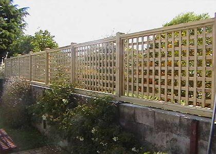 Concrete Block And Trellis Fence Backyard Pinterest