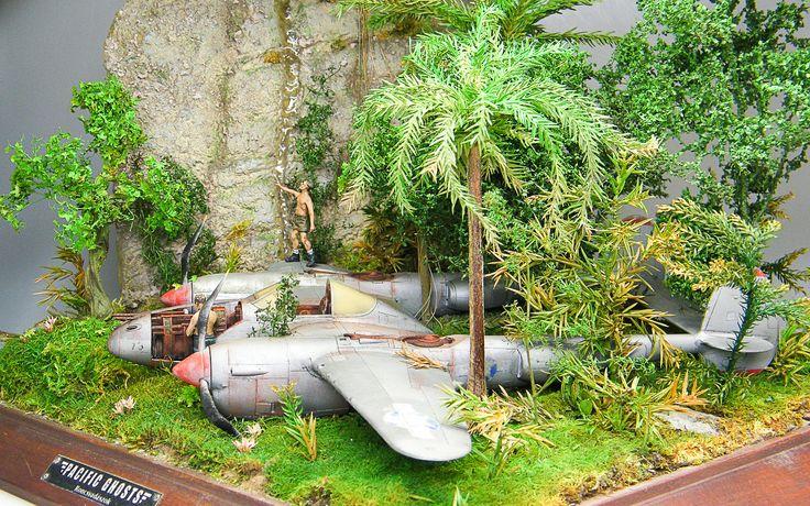 Lockheed P-38 Lightning 1/48 Scale Model Diorama