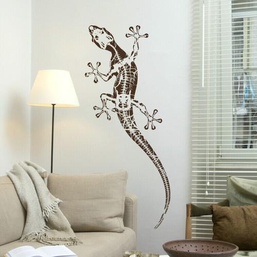Gecko - Reptile transfer / Large Lizard Art Decor / Big Reptile Wall Sticker an7 | eBay