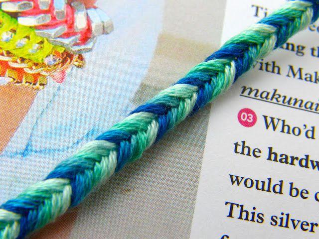 May 19-29, 2015 Friendship Bracelets- Feltasaurus: DIY Ombre Fishtail Friendship Bracelet Tutorial