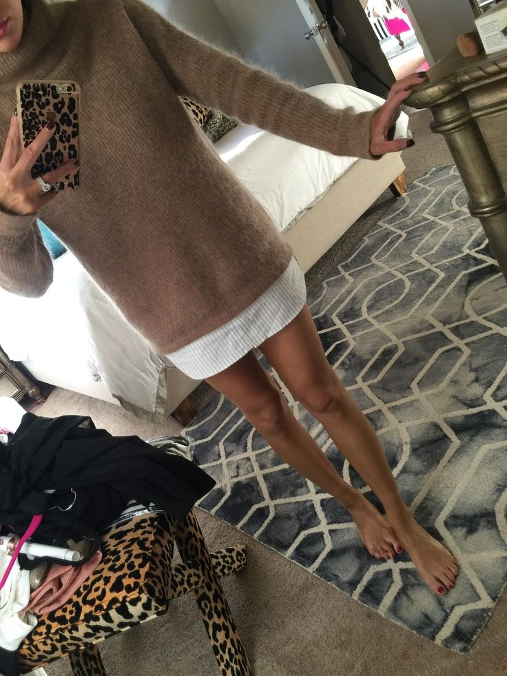 A photo taken last winter of legs the morning after applying St. Tropez Dark Tanning Mousse .. inspiring tip .
