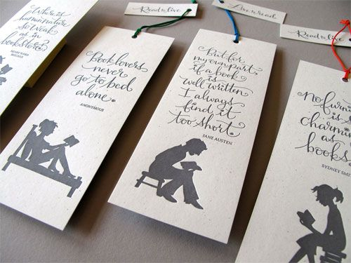 One Of The Most Gorgeous Letterpress Creations Iu0027ve Seen   Tag Team  Tompkins Letterpress Bookmarks