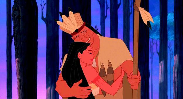 Chief Powhatan, Pocahontas