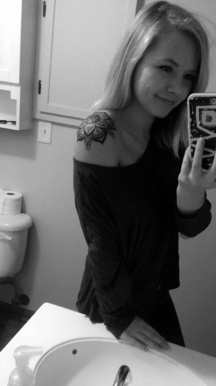 Mandala shoulder tattoo placement