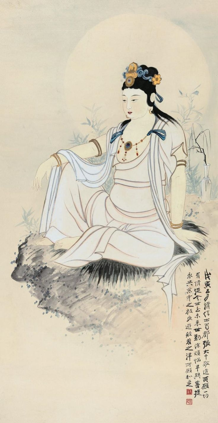 Zhang Daqian - GUANYIN, 1938, Hanging scroll; ink...