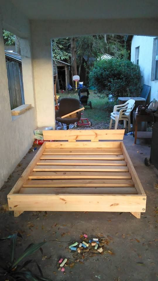 2 x 8 bed full size bedsfull bedmake a beddiy - How To Make A Full Size Bed Frame