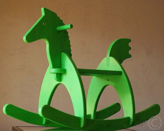 Wooden Handmade Rocking Horse Children Rocking - GreenWoodLT