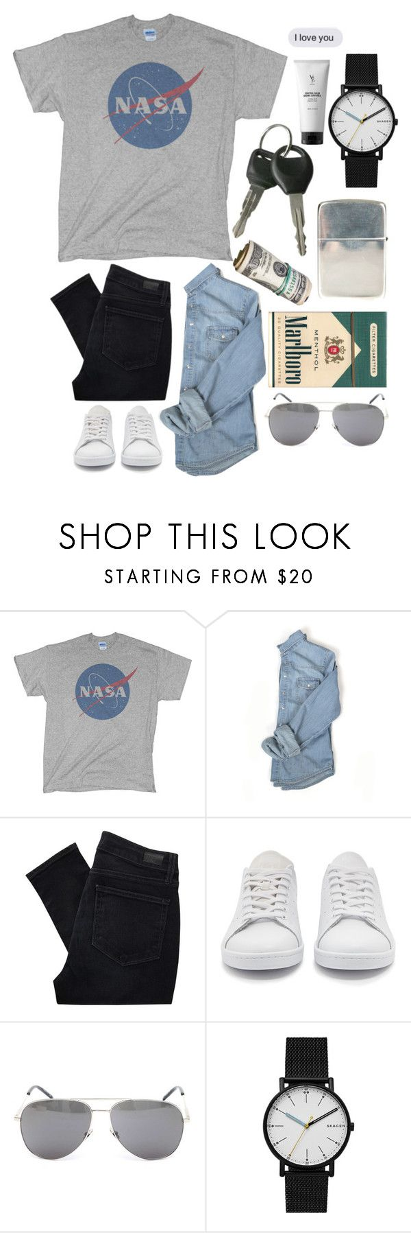 """""""«for him.» 7.07.2017"""" by renyic ❤ liked on Polyvore featuring Paige Denim, adidas Originals, Ugo Cacciatori, Yves Saint Laurent, Skagen, V76 by Vaughn, men's fashion and menswear"""