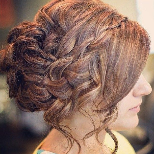 elegant braided updo for prom | Prom Hair Makeup and Nail ...