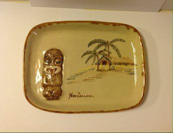 Vintage MOLLE NZ Pottery  TIKI Dish