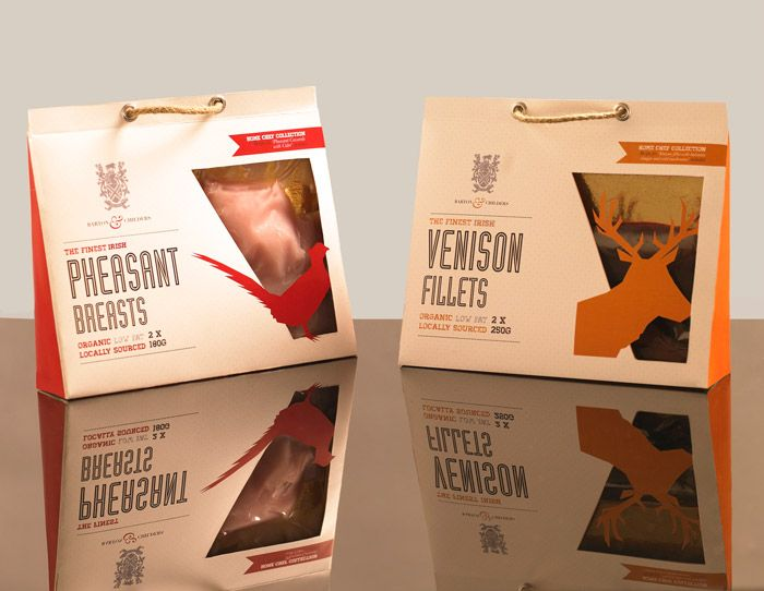 The project brief was to design luxury packaging for the fictitious Barton  Childer's organic game meats. Designed by Edel Quinn