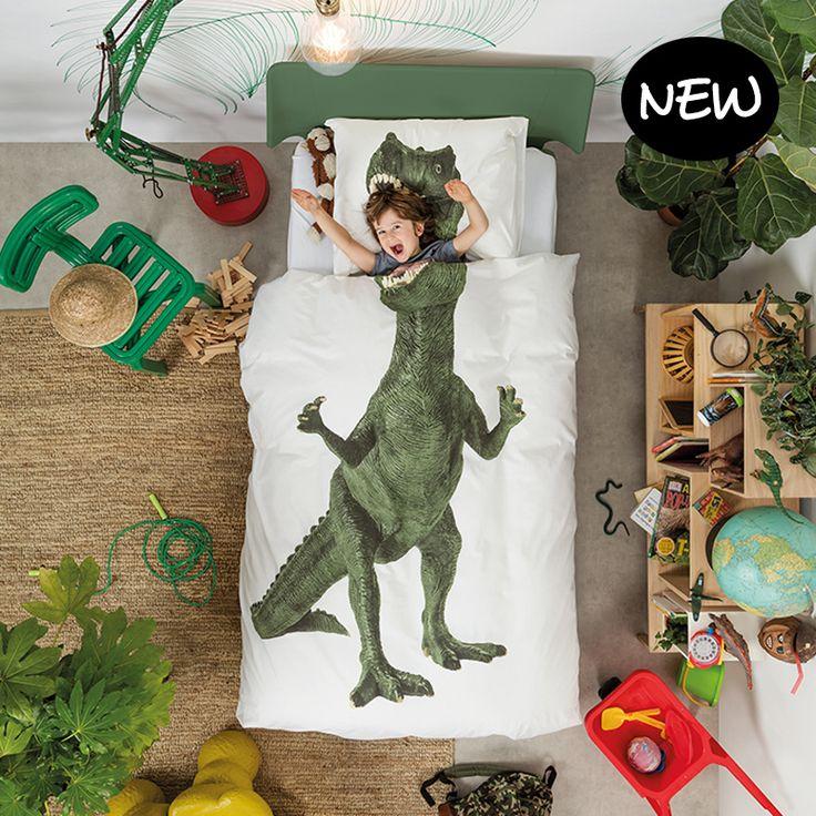 Dino dekbedovertrek (1p) - SNURK - https://www.livingdesign.be/nl/producten/detail/dino-dekbedovertrek-1p-snurk