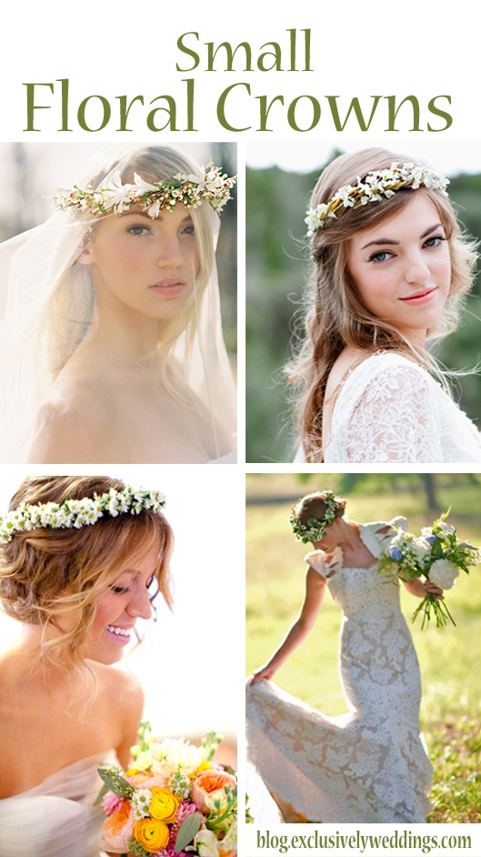 Lovely small floral crown headpieces