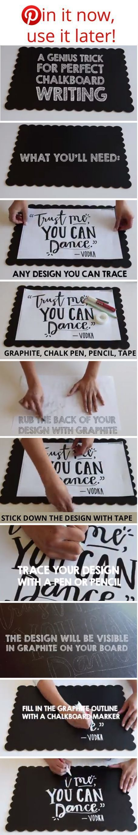 How To Write Nicely On A Blackboard / Chalkboard, fab for making wedding signs – Click through to see the video (Chalkboard Writing How To Video!)    Find chalkboards and chalk markers at http://www.afloral.com/
