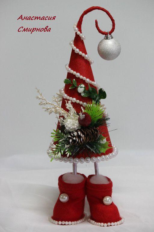 original árbol de navidad de fieltro y perlas                                                                                                                                                      Más