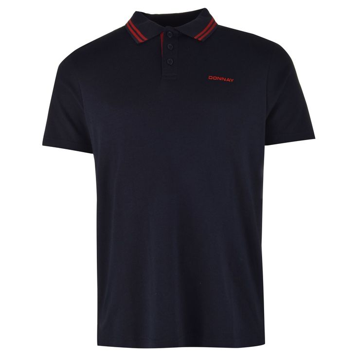 Donnay   Donnay Interlock Polo Shirt Mens   Mens Polo Shirts