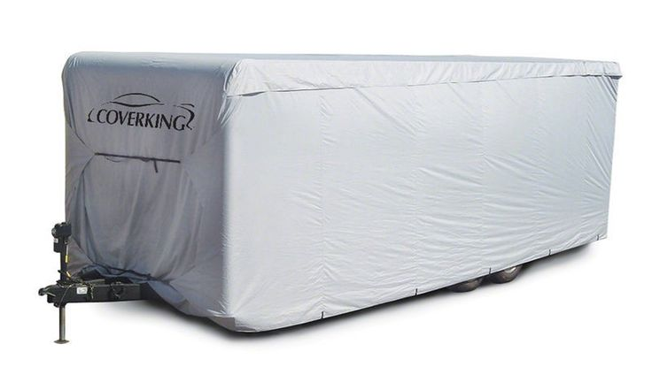 Coverking Deluxe Travel Trailer Presidium RV Cover The Coverking Presidium Travel Trailer RV cover is an outstanding value and provides amazing protection for your RV. Made from 600 denier polyester,