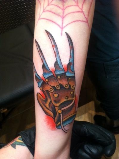 Nightmare on Elm Street tattoo    773-283-8880  crew@tattoocandy.com  book an appt today!