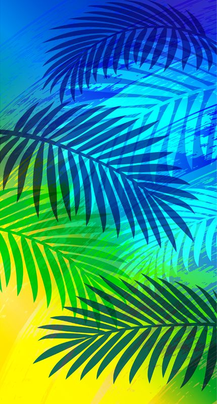 Brushing Palms by Margaret Perez (Surf, Beach & Summer Illustrations, Print & Pattern)  See more at www.margaretperez.com #margaretperez #illustrations #printpattern #graphic #beach #summer #colorful #palmleaves #fashion #tropical