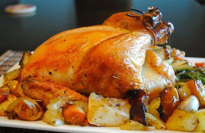 Невыразимая легкость кулинарного бытия...: Как запечь курицу целиком в духовке