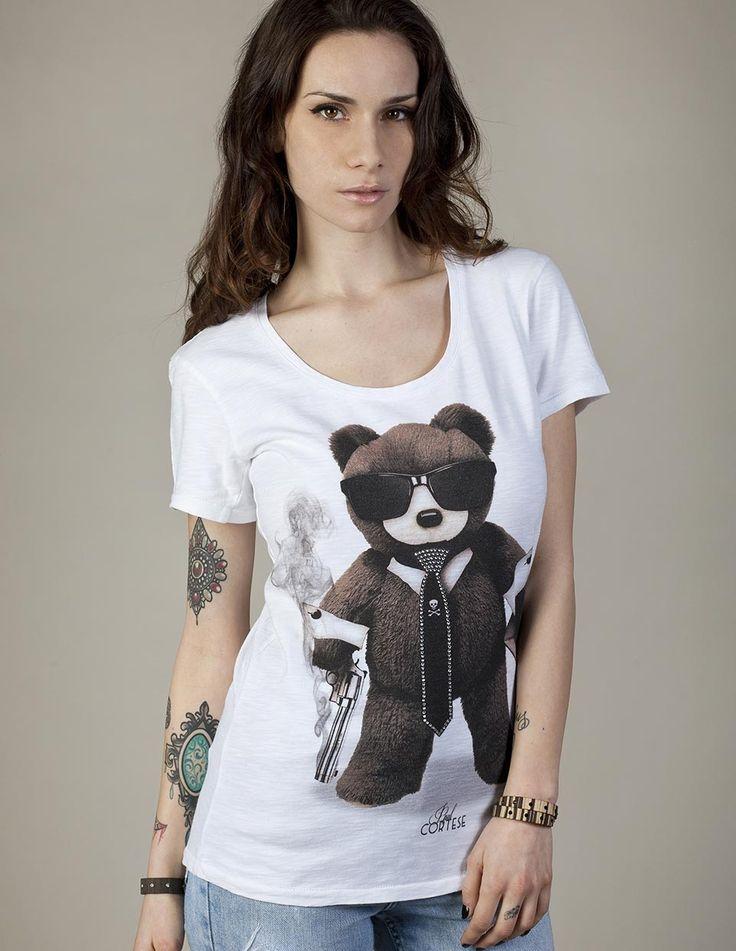 PULP BEAR #woman #tshirt #beartoys #style #fashion #moda #womenfashion #womenstyle #madeinitaly