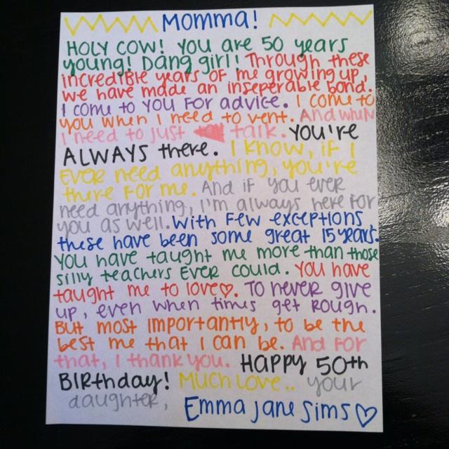 Best 25+ Moms 50th Birthday Ideas On Pinterest