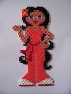 Cool girl Hama perler beads