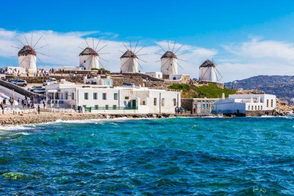 Ветряные мельницы Миконоса в Греции