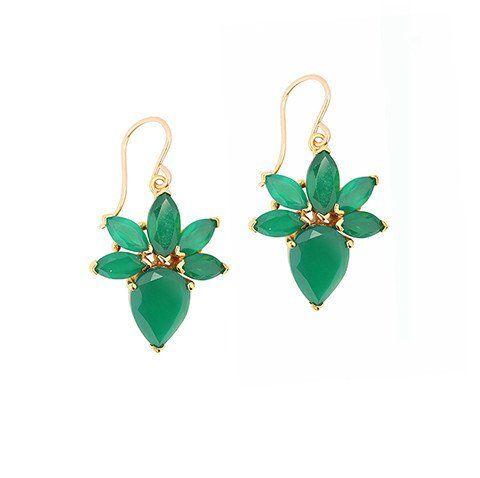 Remi Green Onyx Earrings