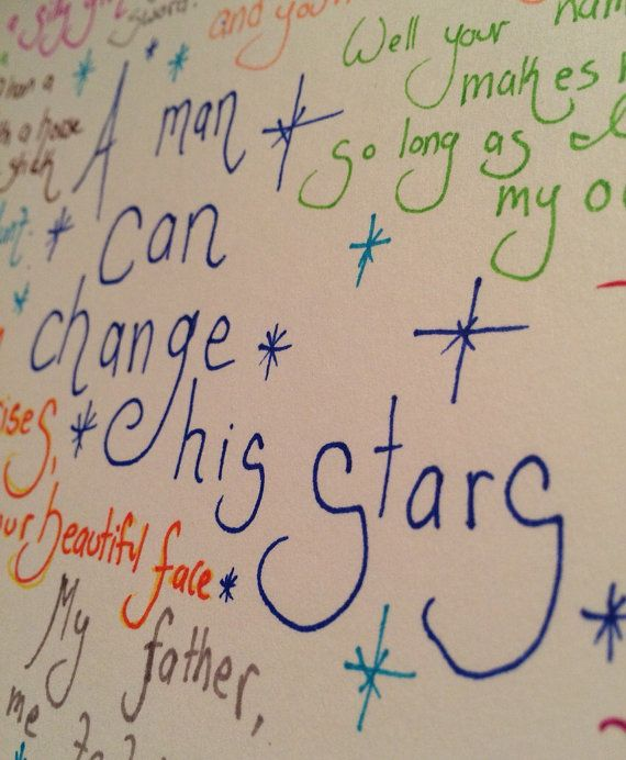 A man can change his Stars    Part of a new piece on Etsy, a page of quotes from A Knight's Tale