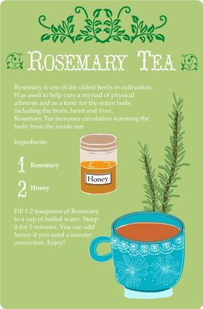 Rosemary Tea Card * Tarjeta Infusión de Romero #natural #health and #beauty
