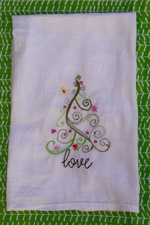 Sketchy Christmas Tea Towel Tutorial